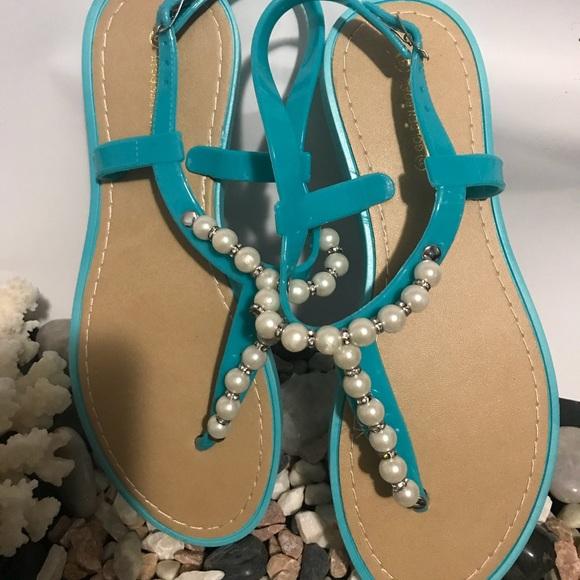 Shoes - Elegant Comfortable turquoise Sandals